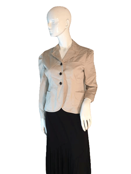 Niu Niu Tan Long Sleeve Blazer Size 42 SKU 000206