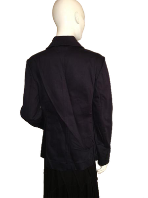 Michael Kors Double Breasted Black Jacket with Zipper Pockets Size L SKU 000207