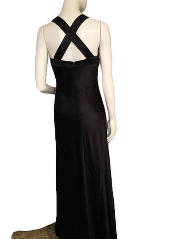 Calvin Klein Floor Length Black Evening Gown Size 4P (SKU 000207)