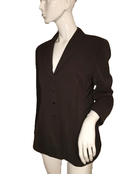 Tahari Brown Professsional Jacket Size 12 SKU 000152