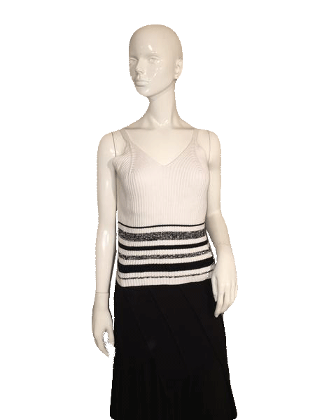 Ballinger-Gold Black and White Sweater Tank Top Size L SKU 000128