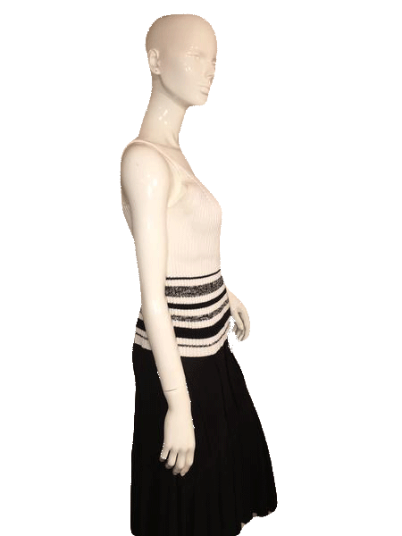 Ballinger-Gold Black and White Sweater Tank Top Size L (SKU 000128)