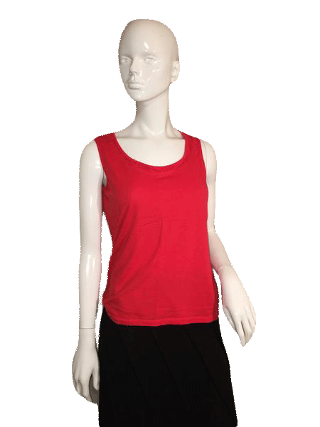 Talbots Red Sleeveless Top with Round Neck Line Size S SKU 000137
