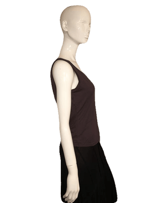 Nygard Gray Sleeveless Tank Top with Round Neck Line Size  S Petite SKU 000137