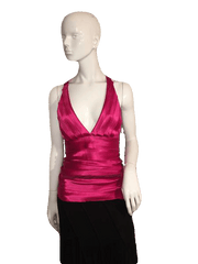 "Designers on a Dime Red Halter Top Size 13 1/2"" (SKU 000137)"