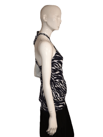Banana Republic Animal Print Halter Top Size S (SKU 000137)