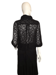 Black Lace Jacket Size M  (SKU 000137)