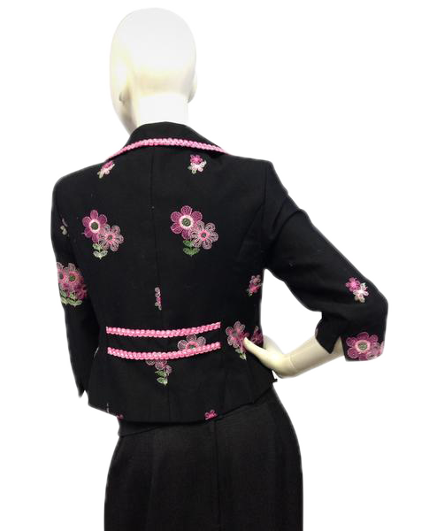 FLORAL BLAZER Cynthia Steffe Black Medium Embroidered (SKU 000080)