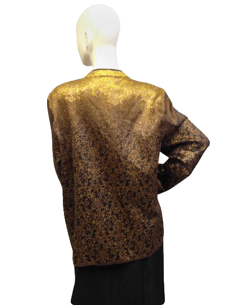 Catherines 90's Blazer Black, Gold and Bronze Size 14/16 SKU 000046