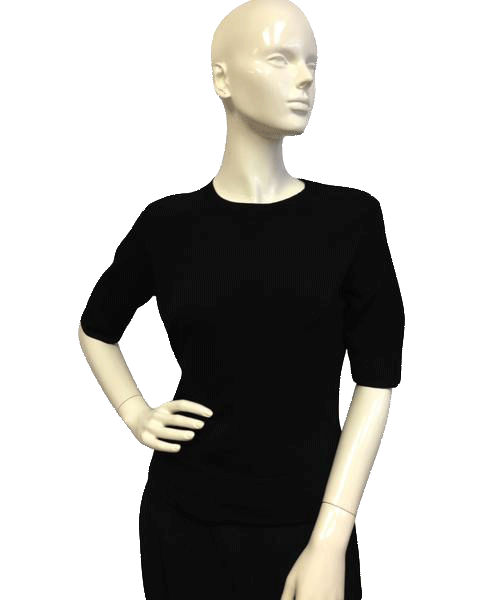 Talbots Short Sleeve Black Knit Top Size Small SKU 000071