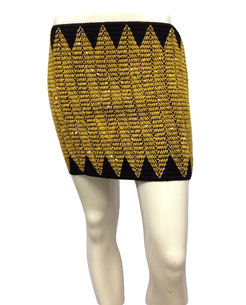 Swoon Black and Gold Triangle Tube Top or Skirt Size M SKU 000025