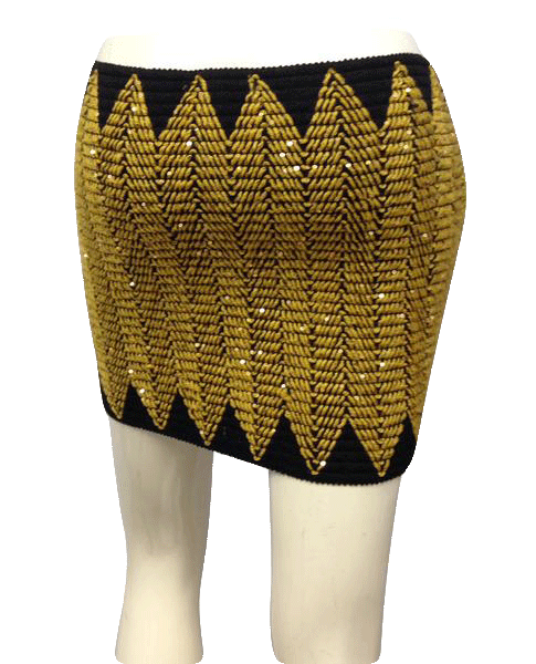 Black and Gold Triangle Tube Top or Skirt (SKU 000025)