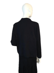 Linden Hill Black Long Sleeve Jacket with Zipper Front Size M (SKU 000206)
