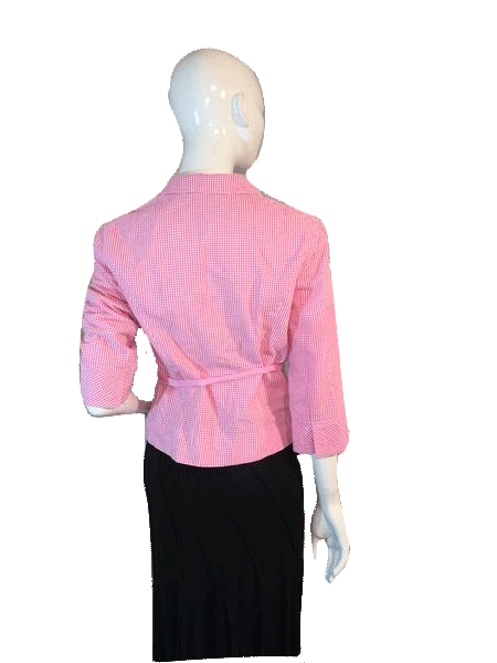 Cynthia Steffe Gingham Pink and White Check Jacket Size M (SKU 000206)