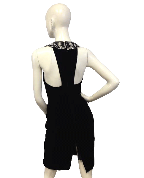 Dave & Johnny Black Dress w/ silver gem neckline Size 5/6 SKU 000061