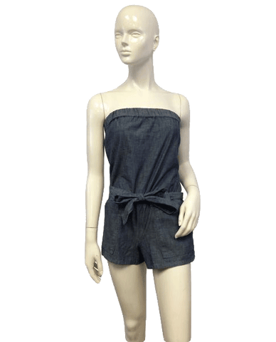 SHORTS Denim Strapless Romper Size XS (SKU 000021)