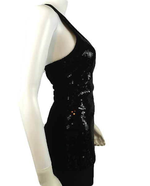 Sequin Black Long Top Size Medium (SKU 000081)