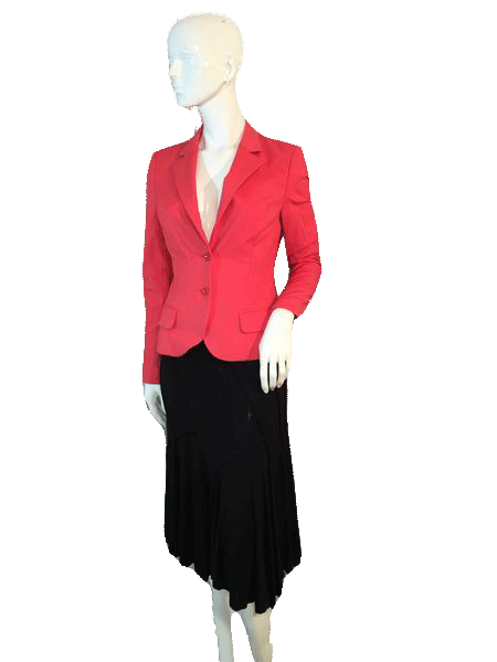 Blazer Beautiful Orange Long Sleeve Size 42 SKU 000155