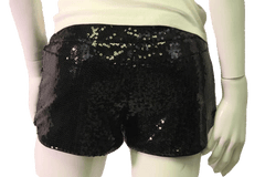 Black Sequin Shorts (SKU 000070)