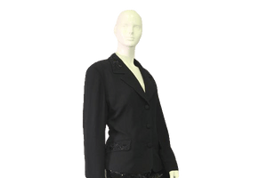 Blazer Black Embellished with Black Beads Size 16 SKU 000050