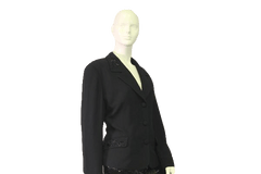 Black Blazer Beautifully Embelllished with  Black Beads Size 16 (SKU 000050)
