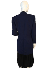 Blazer Dark Navy Long Sleeve Size 10 (SKU 000155)