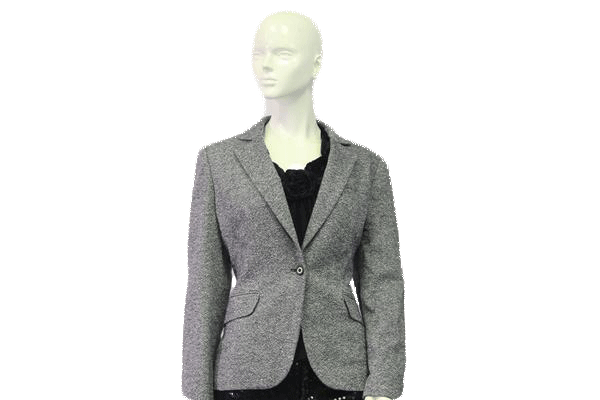 Talbots Blazer Gray and White Fleck Tweed Size 10 SKU 000046