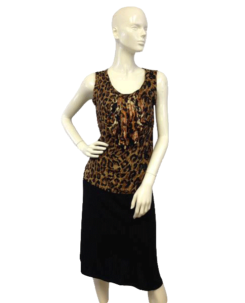 Animal Print Cheetah Sleeveless Blouse (SKU 000027)