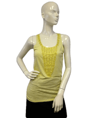 Ann Taylor Yellow Beaded Sleeveless Tank Top (SKU 000071)