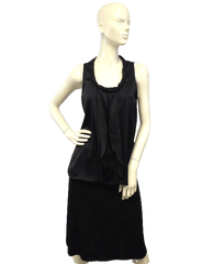 Halogen Black Sleeveless Top Size Small (SKU 000071))