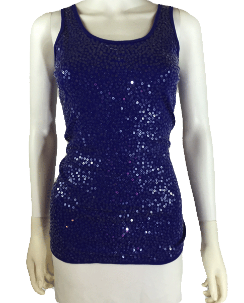Top Purple Sequin Size S SKU 000101