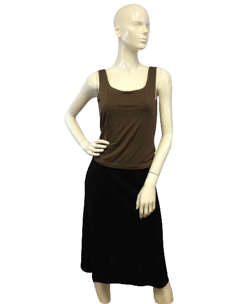 Brown Sleeveless Lined Knit Tank Top Size M  (SKU 000071)