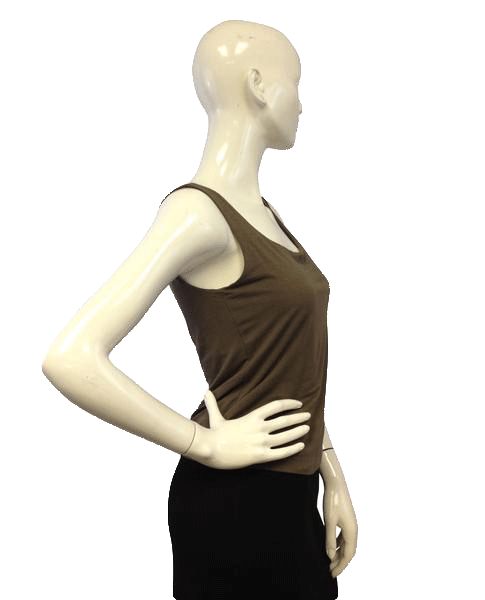 Brown Sleeveless Lined Knit Tank Top (SKU 000071)