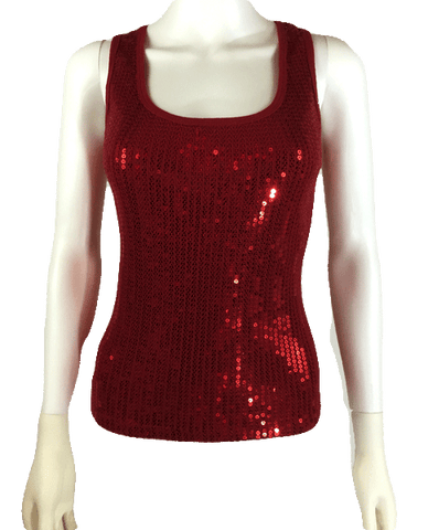 Marilyn Red Sequin Top Size S (SKU 000087)