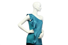 Aqua Fresh One Shoulder Sleeveless Top (SKU 000051) - Designers On A Dime - 2