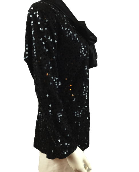 Lisa Ashley Top Black Sequin Sz S (SKU 000011)