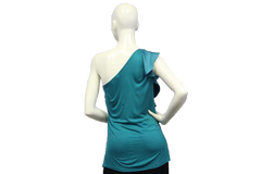 Aqua Fresh One Shoulder Sleeveless Top (SKU 000051) - Designers On A Dime - 3