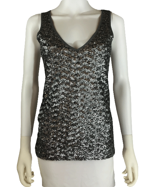 Banana Republic Metallic Medley Sequin Top Sz XS (SKU 000010)