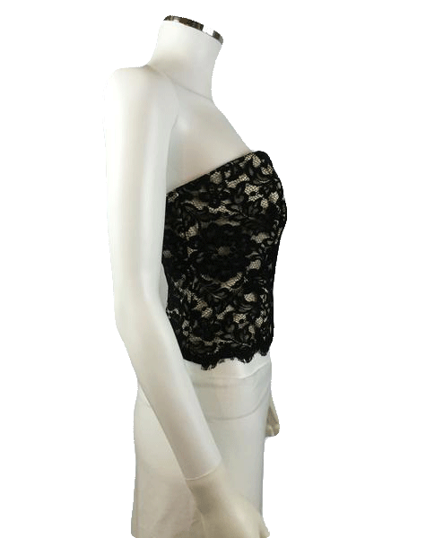 Black Lace Tube Top Size 8 (SKU 000025)