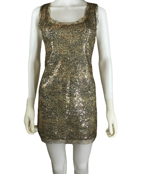 Tan sequin dress