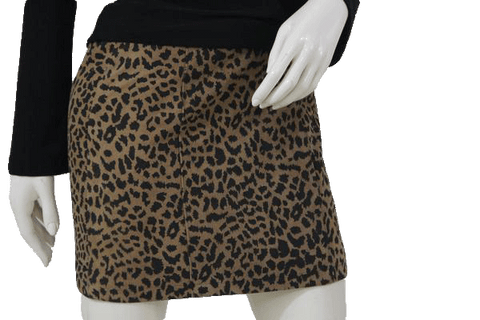 Animal Print Leather Skirt Size Small (SKU 000105)