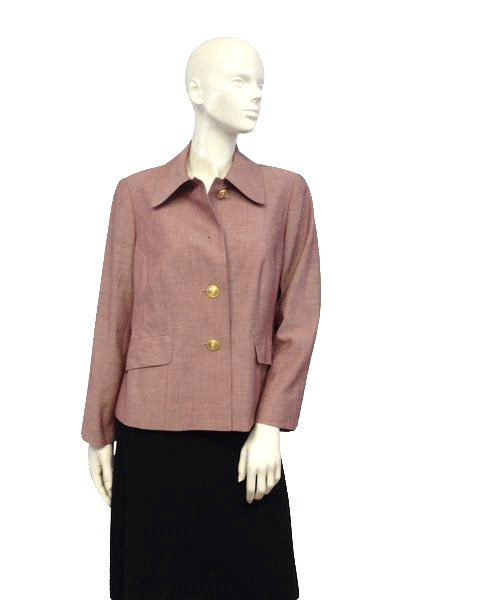 Blazer Light Red Shantung Size 14 SKU 000046
