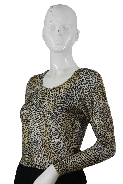 Animal Print GO SPORT Knit Top Size Medium (SKU 000105)
