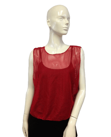 Red Mesh Top on trend (SKU 000024)