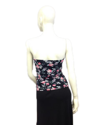 Wet Seal 80's Tube Top Floral Print Size L SKU 000024