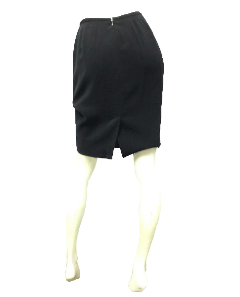 Lord and Taylor Classic Black Pencil Skirt Size 4
