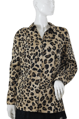 Lane Bryant Copy Animal Print Blouse Size 24 (SKU 000105)