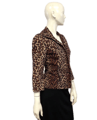 Anne Klein Zip Up Blazing into the Jungle Blazer Size 6  (SKU 000027)