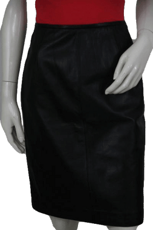 Valerie Stevens Black Leather Skirt Size 8 SKU 000104