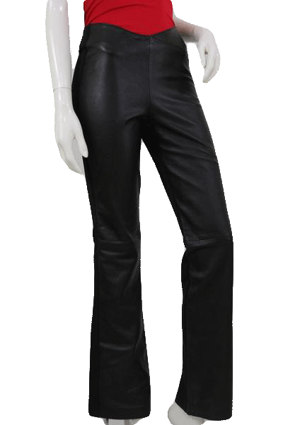 Cache Genuine Leather Pants Black Size 2 SKU 000103